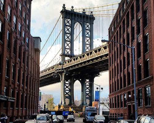 Famous spot in Dumbo, Brooklyn