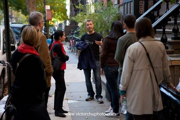 Learning about the brownstones in the West Village