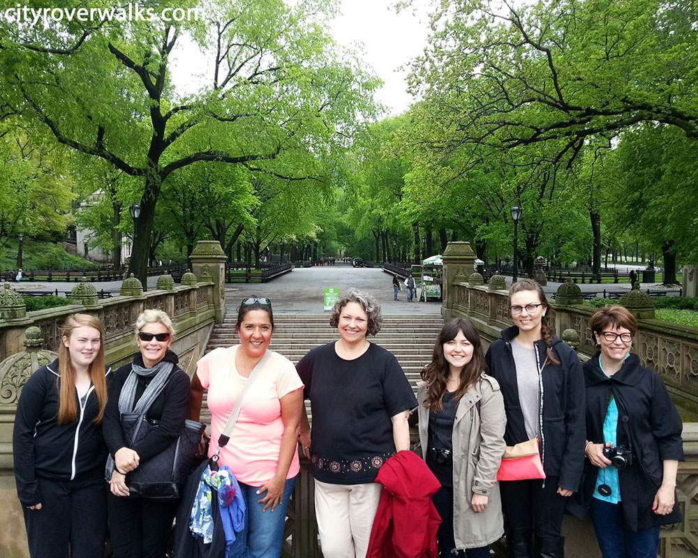 Tour Group Near the Mall in Central Park