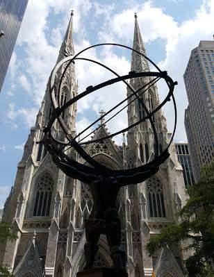 Atlas facing Saint Patrick's on Fifth Avenue
