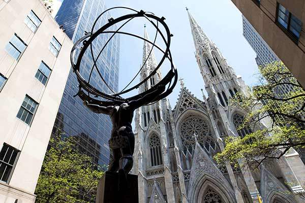 Atlas across from Saint Patrick's Cathedral