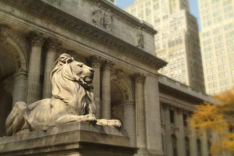 Leo Astor outside NY Public Library