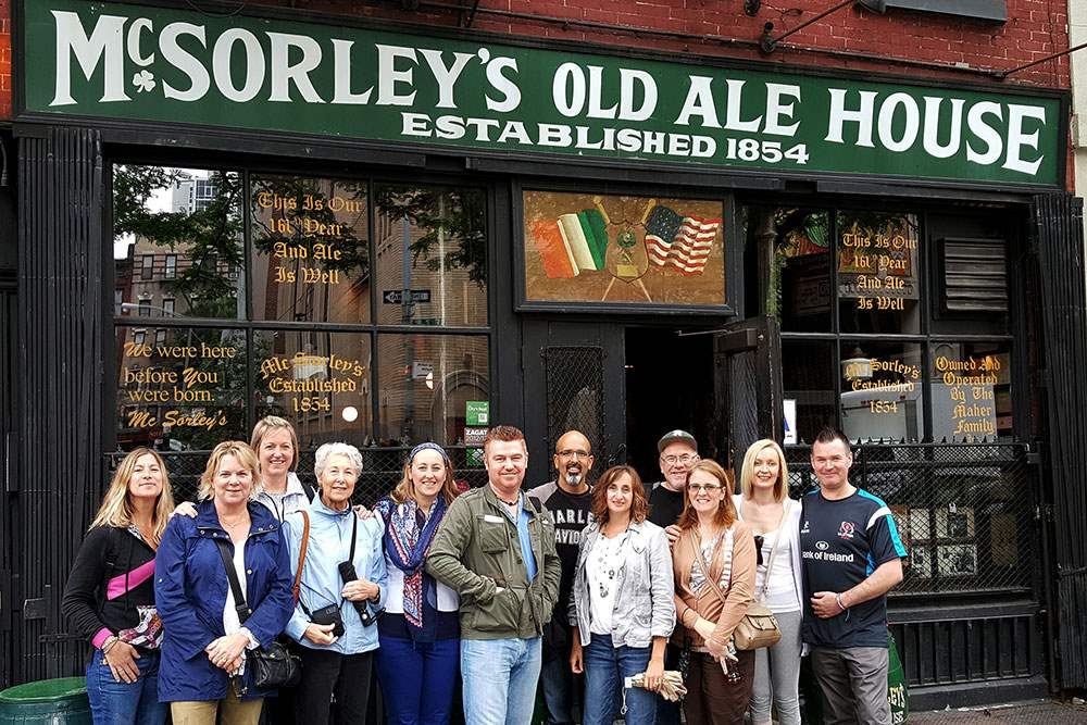 Enjoy an ale at McSorley's Old Ale House