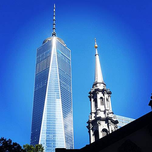 1 WTC and Saint Paul's Chapel