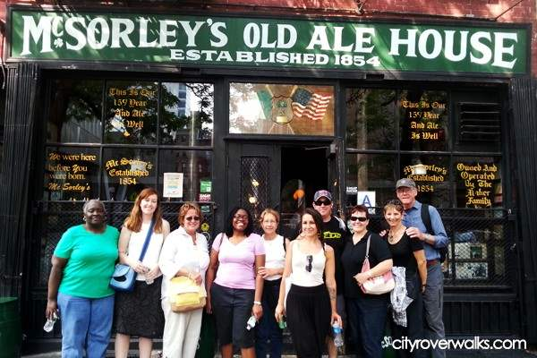 Tour Group in front of McSorley's, NY's oldest bar