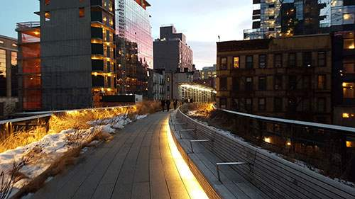 High Line Section 2 at dusk