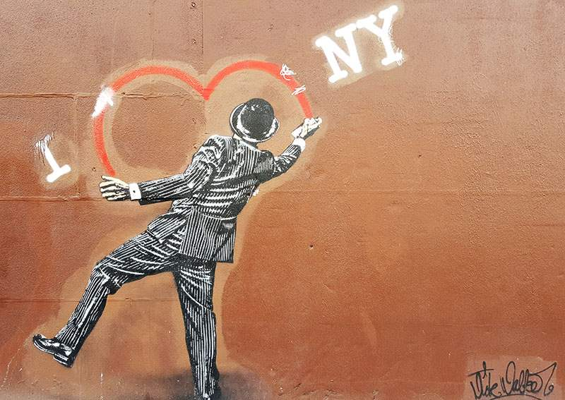 I Heart NY Mural on LES