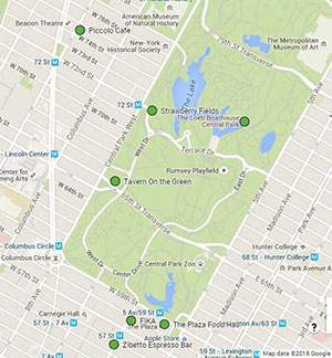 Celebrity homes map nyc districts