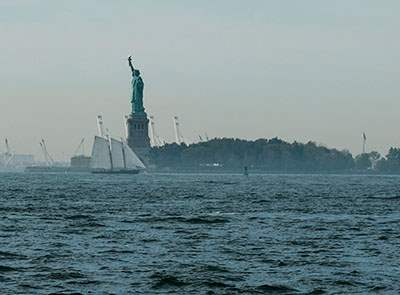 Statue of Liberty in the NY Harbor