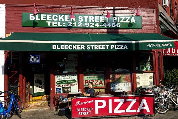 Outside Bleecker Street Pizza