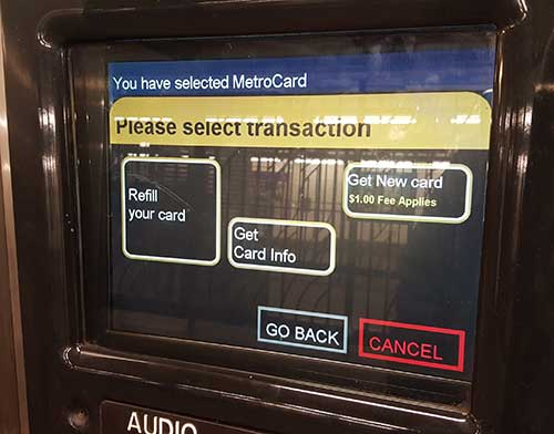 Metrocard New-v-Refill