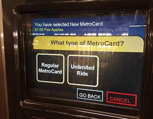 Metrocard Regular v Unlimited
