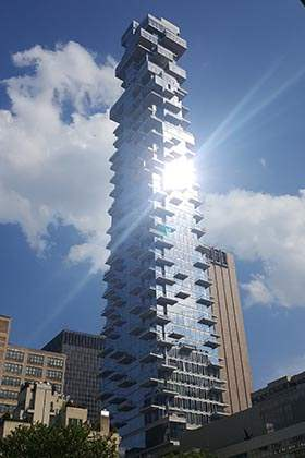 "The ""Jenga"" Building in Tribeca"