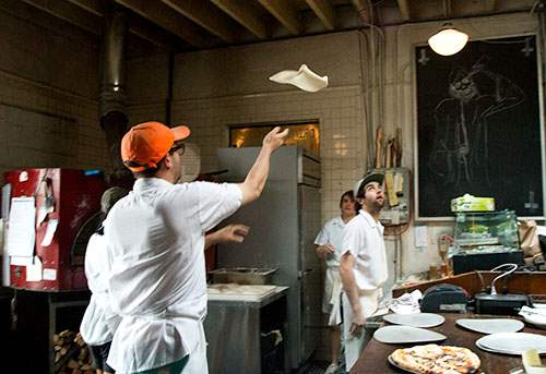Music and dough-tossing at Roberta's
