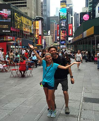 Touring Times Square