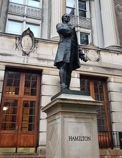 Hamilton statue at Columbia University