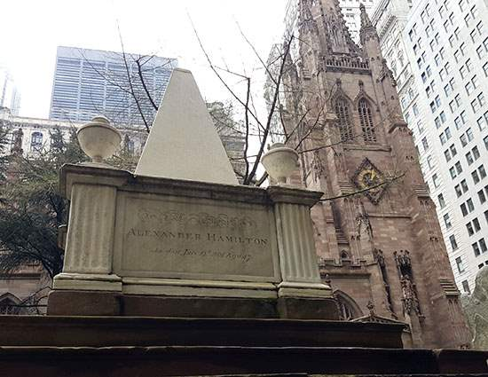 Hamilton's Grave at Trinity Church