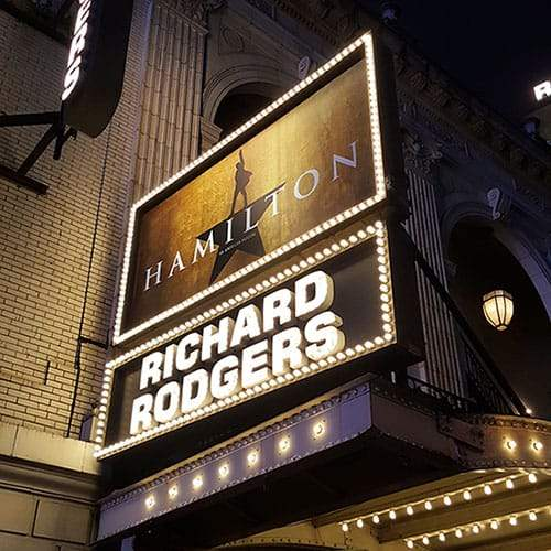 Hamilton at Rogers Theater NYC
