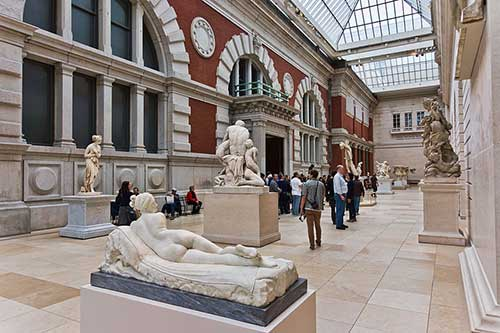 European Sculpture Court at the Met